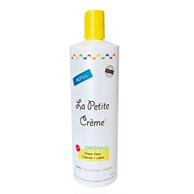 La Petite Creme - Organic French Diapering Lotion **Alternative to Baby Wipes** Liniment (20 Oz Refill) - USDA Certified Organic