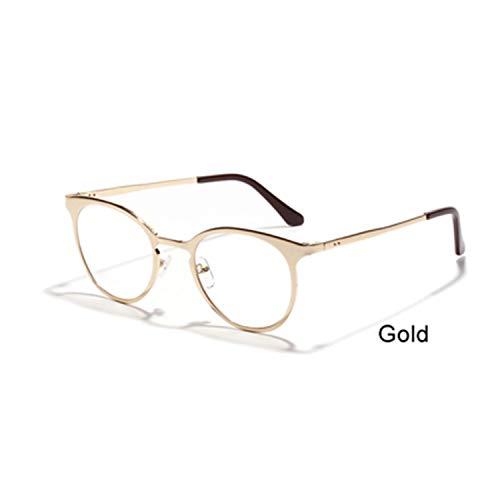 Elegant Gold Frame Glasses Women Men Metal Clear Lens Lenses Optical Prescription Glasses Oculos De Grau 3171 ()