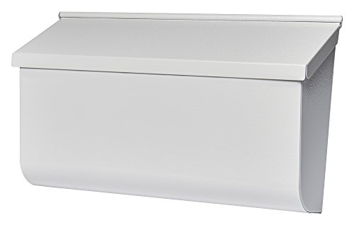 Gibraltar Mailboxes Woodlands Medium Capacity Galvanized Steel White, Wall-Mount Mailbox, L4009WW0