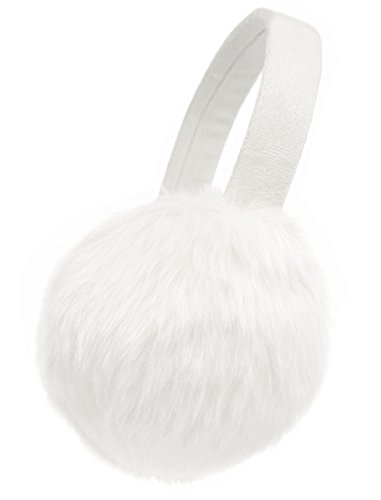 ThunderCloud Luxuriously Soft Warm Thick Faux Fur Ear Warmers,White ()