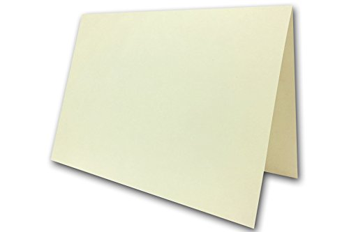 Premium Blank DIY 74# Cover A-9 Folded Cards 100 Pack - 8.5