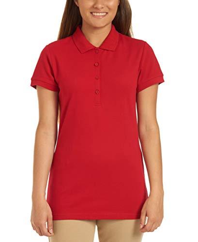 - Nautica Junior's Uniform Short Sleeve Pique Polo, Red, X-Large(15)