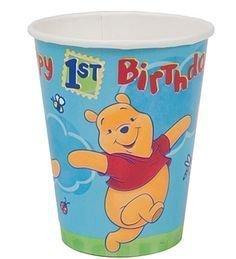 Winnie the Pooh 1st Birthday 8 Paper Cups