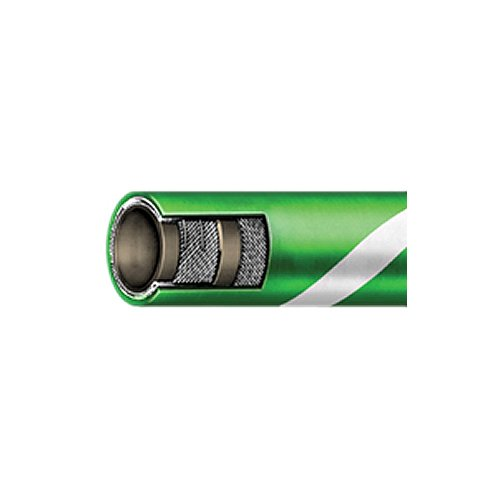 Coupled CXE 250 psi Continental ContiTech 20018697-1.5x20-CxESS XLPE Cross Link Polyethylene Chemical Transfer Hose Stainless Steel Green 1.5 x 20