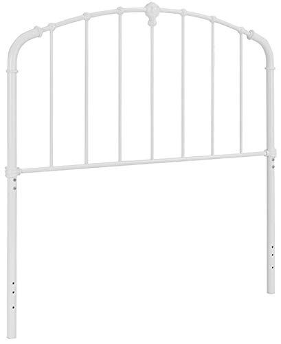 Crosley Furniture Hazel Curved Metal Headboard, Full/Queen, White