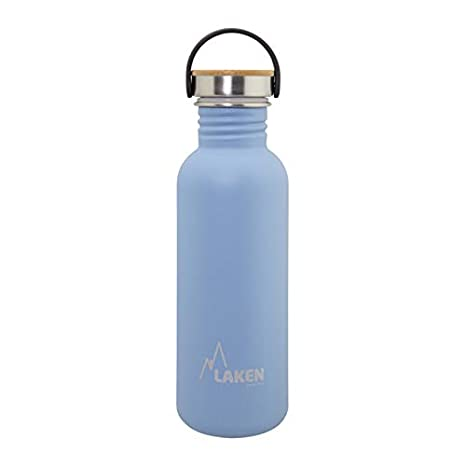 Laken sehr robuste Edelstahlflasche Blau Unisex-Botella de Acero Inoxidable Muy Resistente para Adultos, 0,75 L, Color Azul, 0,75
