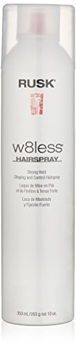 RUSK Designer Collection W8less Strong Hold Shaping and Control Hairspray, 10 Fl Oz 55% VOC