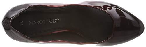 2 21 Femme 552 Rouge 22424 Merlot Escarpins Marco Tozzi 552 2 com Pat pcfWEHI