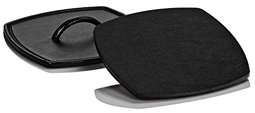 Lodge 12 Inch Square Cast Iron Grill Pan. Ribbed 12-Inch Square Cast Iron Grill Pan with Iron Ribbed Grill Press by Lodge (Image #4)