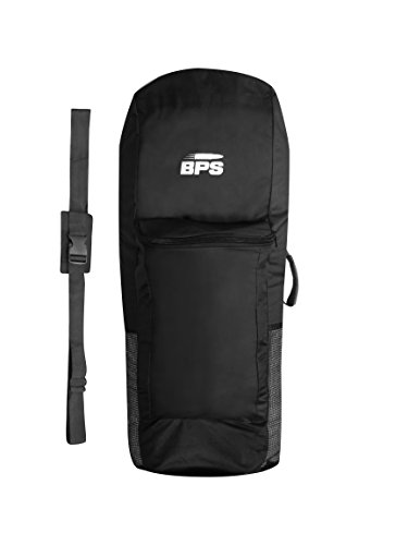 BPS 'Premium Universal Inflatable SUP Board Bag/iSUP Bag - Easy to Carry Inflatable Board Backpack - Inflatable Paddle Board Bag with Rear Pocket (Black, with Rear Pocket)