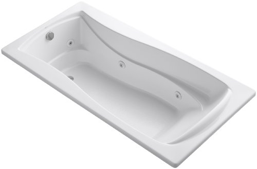 KOHLER K-1257-0 Mariposa 6-Foot Whirlpool, White - 6' Bath Whirlpool
