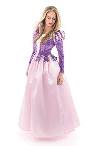Little Adventures Deluxe Rapunzel Dress-Up Costume for Adult Women (Size -