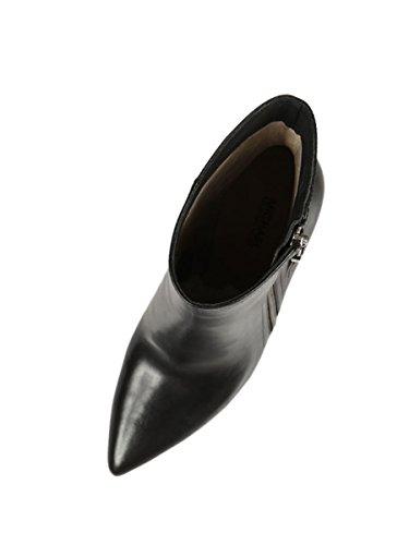 Zapatos Tacon Mujer Botín MICHAEL KORS Dawson Bootie Leather Black Smooth Calf Nero