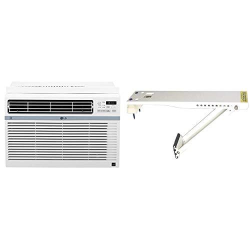 LG LW8017ERSM Smart Window Air Conditioner (Wi-Fi), 8,000 BTU 115V, White & AC-Safe AC-160 Universal Heavy-Duty Air…