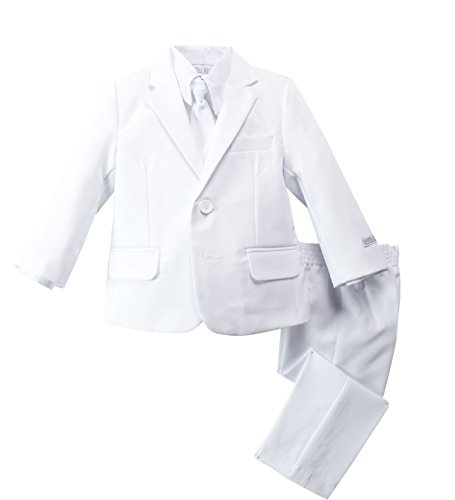 Spring Notion Baby Boys' Modern Fit Dress Suit Set 4T White ()