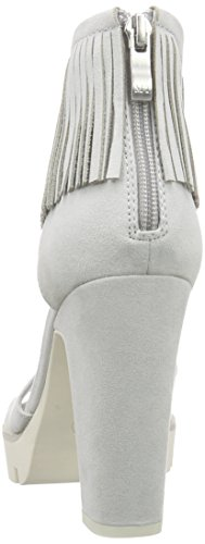 Marco Tozzi 28712, Women's Open Toe Sandals Grey - Grau (Quartz 201)