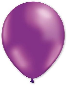Lote de 100 globos, color morado, 100% látex, 30 cm, aire o helio ...