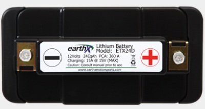 EarthX ETX Series Light Weight High Cranking Lithium Battery 12V ETX24D by EarthX