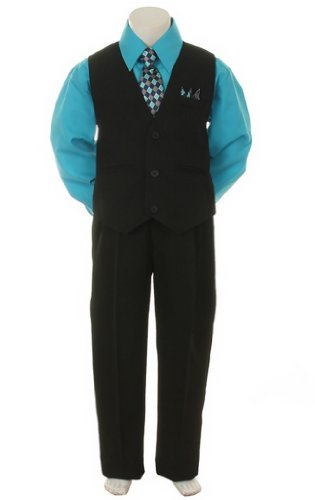 Stylish Outfit Tie Baby 7 Black Turquoise
