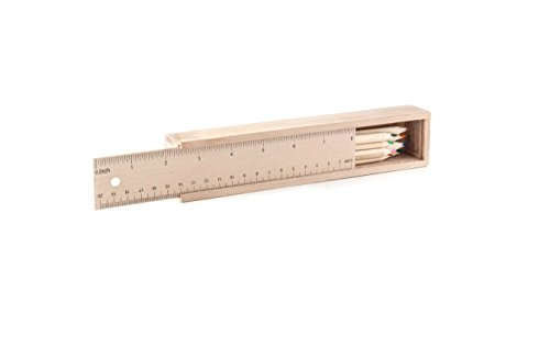 Kikkerland Wood Pencil Ruler Set (ST75)