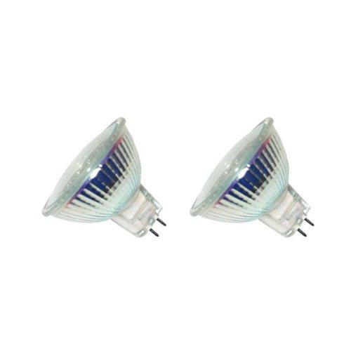 eTopLighting MR16-12V-35W-2P MR16 with UV Front Glass 35W 12V Halogen Flood Reflector Light Bulbs, - 2 Bulb Glass