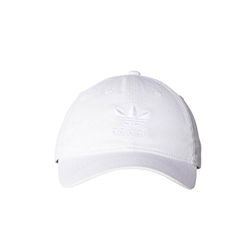 adidas Men's Originals Relaxed Strapback Cap, White/White, One Size