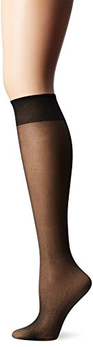 L'eggs Women's Everyday Sheer Toe Panty Hose, Jet Black, One Size, 10 Pair