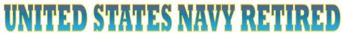 - US Navy Retired Strip Decal Sticker (20 Inch)