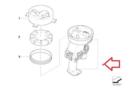 Amazon Com Bmw Genuine Fuel Pump Fuel Filter Fuel Pump Assy For