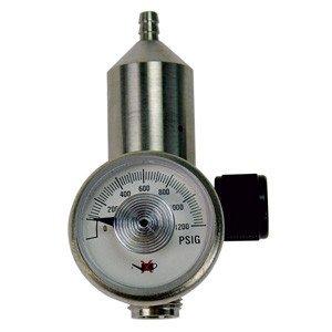 GASCO 70-0.5 Brass/Nickel Plated 0.5 LPM High Pressure Regulator for 34L 58L 74L,103L 116L Aluminum Cylinders, 2