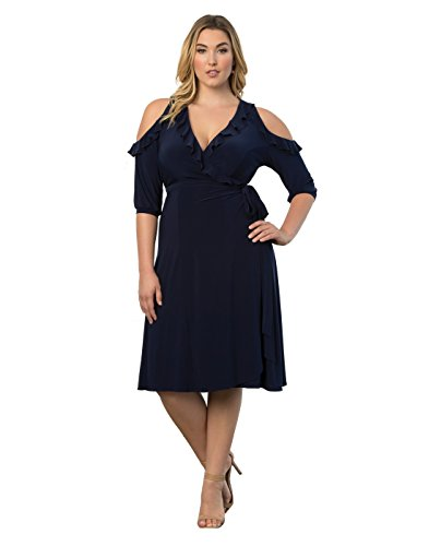 Kiyonna Women\'s Plus Size Barcelona Wrap Dress