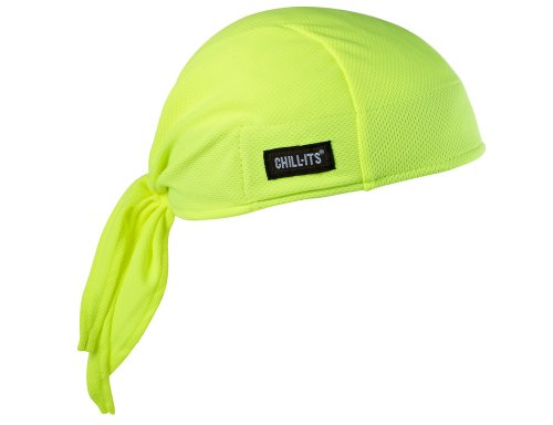 Ergodyne Chill-Its 6615 Absorptive Moisture-Wicking Dew Rag, Lime - Evening Glove : Collection Apparel