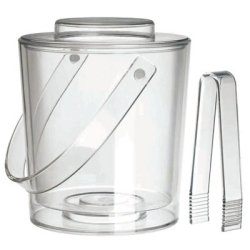 Felli® Ice Bucket w/Lid & Tongs