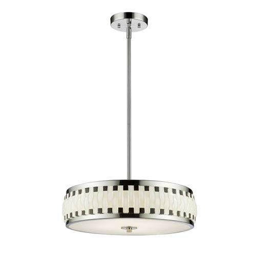 Amazon.com: Lámpara colgante LED con tulipa de vidrio blanco ...