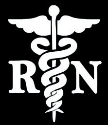 [NI990 RN Registered Nurse Decal Sticker | 6-Inches By 4.8-Inches | Premium Quality White Vinyl] (Jackie Nurse Shoes)