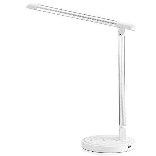 Consciot 12W LED Desk Lamp, Dimmable and Adjustable Office Table Lights, Touch-Sensitive Control Panel, with 5 Lighting…