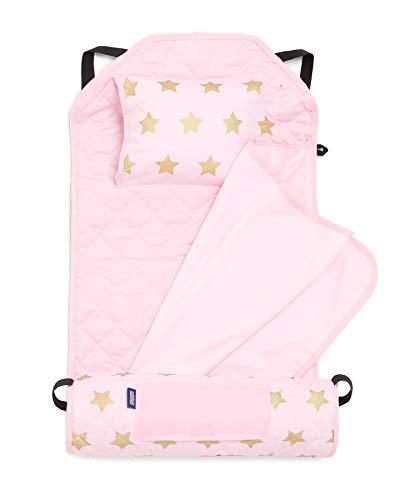 Wildkin Modern Nap Mat, Pink & Gold Stars
