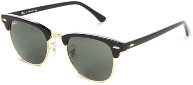 Ray-Ban Clubmaster Sunglasses - Ebony Arista / G-15 XLT by Ray-Ban