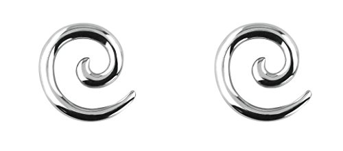 Forbidden Body Jewelry Pair of 10g (2.4mm) Surgical Steel Solid Spiral Taper Earrings