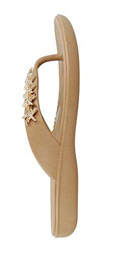 Gillian Flip Flop Sandal Shoes by OkaB Color Chai (M) by OkaB Oka-B (Image #4)
