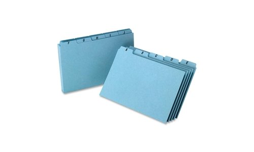 - Esselte Pendaflex Corporation ESSP5825 Self-Tab Card Guides- Pressboard- A-Z- 25 PT- 8in.x5in.- BE