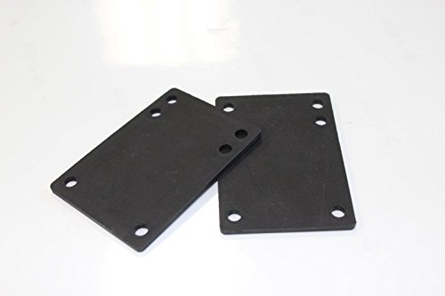 Rubber Skateboard Riser Pad 1/8 3Mm Pack Of 2 - Black Pads Riser
