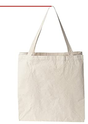 """Warehouse Pod Natural Cotton Canvas Tote Bag 12 Oz (11""""X14""""X5"""") Reusable Ideal for Groceries, Shopping, School and Office Use"""