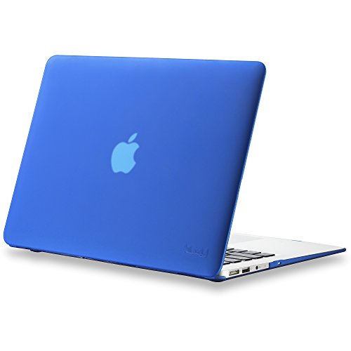 Kuzy MacBook Air 13 inch Case A1466 A1369 Rubberized Hard Cover for Older Version 2017, 2016, 2015, Blue