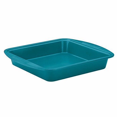 SilverStone Hybrid Ceramic Nonstick Bakeware Steel Square Cake Pan, 9-Inch x 9-Inch, Marine Blue (9x9 Ceramic Baking Pan compare prices)