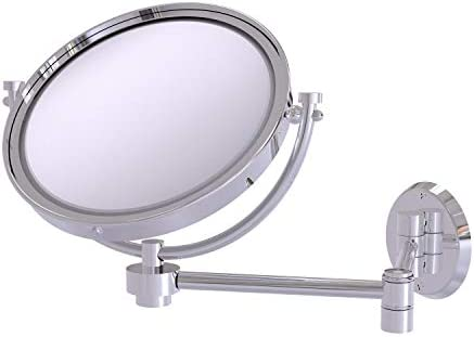 Allied Brass WM-6 4X-PC 8-Inch Wall Mirror with 4x Magnification Extends 14-Inch, Polished Chrome
