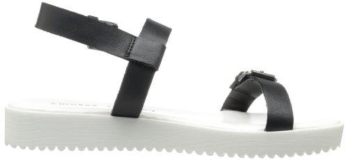 Chinese Laundry Note Worthy Leder Gladiator Sandale, Schwarz, 36 EU