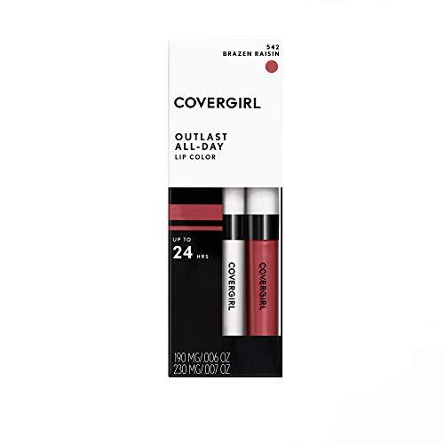 COVERGIRL, Outlast All-Day Moisturizing Lip Color, Brazen Raisin .13 oz (4.2 g) 1 Count  (Packaging may vary)