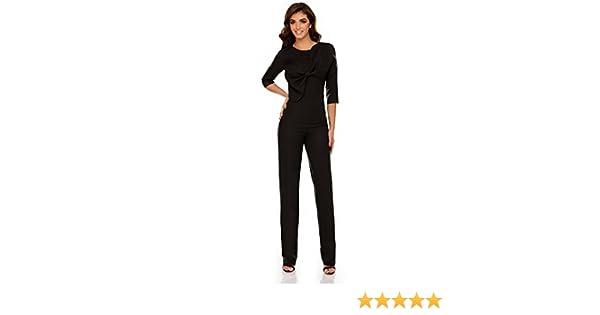 8be26a38 Miss Grey Mujer Elegante Mono De Fiesta Cóctel Ajustado Pantalon Largo  Mangas Largas Negro X-Large: Amazon.es: Ropa y accesorios