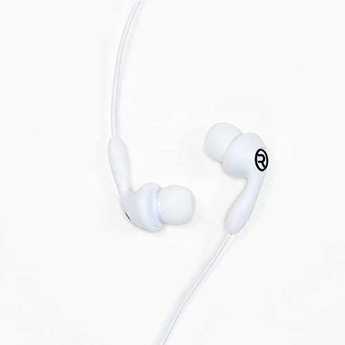 Remax RM 505 Candy Series In Ear Earphone Portable Music Headset 1.2m Mic 3.5mm Audio Jack Wire Control WHITE